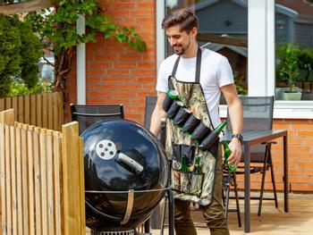 Grillförkläde med Ölbälte