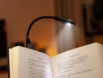 Spralla LED Läslampa med Klämma