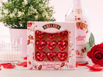 Baileys Strawberries & Cream Chokladhjärtan