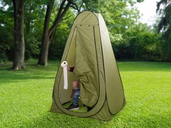 Outlust Pop-up-tält med Campingtoalett