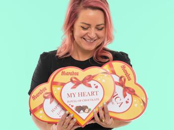 Personaliserad Marabou Hjärtan Chokladask