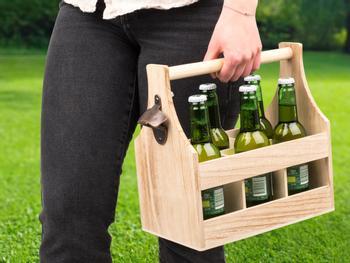 Flasklåda i Trä