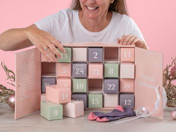 Strumpkalender Pastell (37-40)