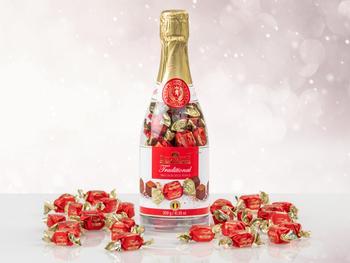 Chokladtryffel i Champagneflaska