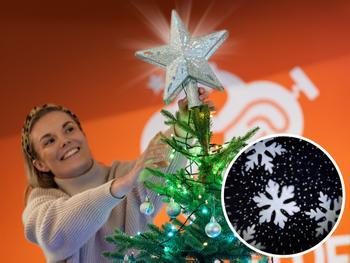 Spralla Julgransstjärna med Projektor