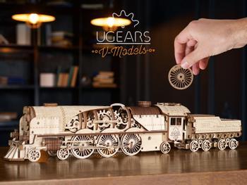 Ugears 3D-pussel i Trä - Tåg