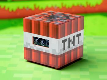 Minecraft TNT Digital Väckarklocka