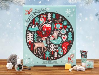 Winter Woodland Badkalender