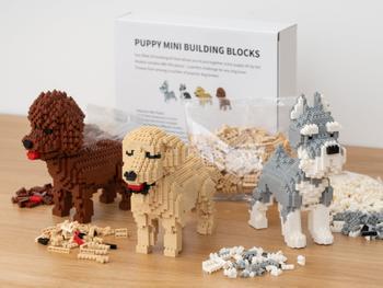 Hundvalp Mini 3D-byggsats